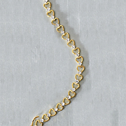 white topaz heart bracelet