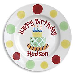 personalized ceramic birthday plates
