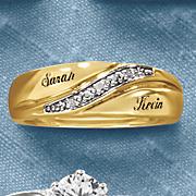 men s diamond name wedding band