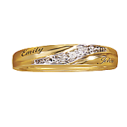 diamond name wedding band