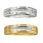 men s 2 row diamond wedding band