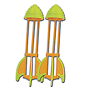 set of 2 hydro rocket refills