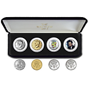 4 pc  tribute to jfk half dollar set  colorized portrait