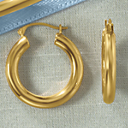 14K Gold Nano Round Hoop Earrings