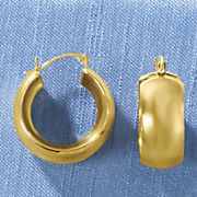 14k gold nano wide hoop earrings