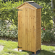 wood garden tool shed