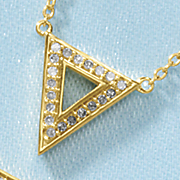diamond geometric necklace