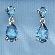 london blue topaz teardrop earrings