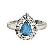 london blue topaz teardrop ring