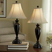 Set of 2 Black Touch Lamps