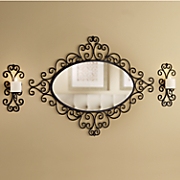 3-Piece Wall Mirror and Sconces Set