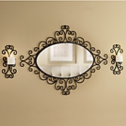 3 pc  wall mirror and sconces set