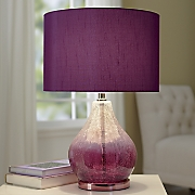 Clear Purple Ombre Lamp