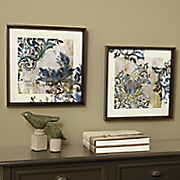 set of 2 abstract 3 d wall art
