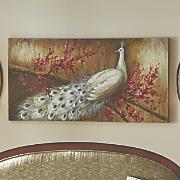 Peacock Horizontal Floral Print