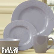 16-Piece Paisley Vine Dinnerware Set by Bonjour