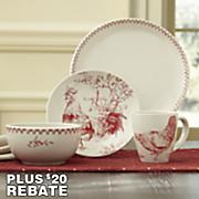 16 pc  chanticleer dinnerware set by bonjour