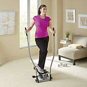 dual action swivel stepper with bar by sunny health   fitness