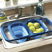 over the sink collapsible colander