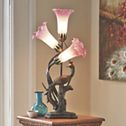 tulip   peacock table lamp