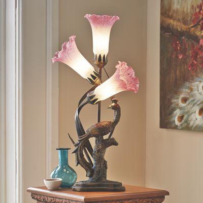 Tulip & Peacock Table Lamp