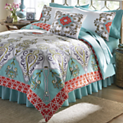 capri comforter set and pillow