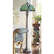 stained glass peacock floor lamp