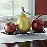 oversized tabletop fruit decor