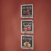 fruit label wall art