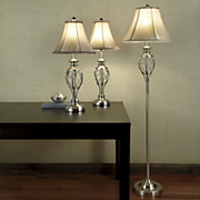 set of 3 scroll lamps