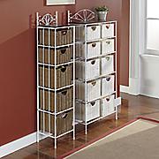 5  and 10 basket wicker storage