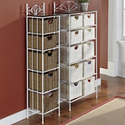 5 basket wicker storage