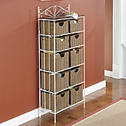 10 basket wicker storage