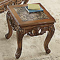 Handcarved Marble End Table