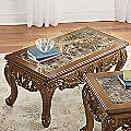 Handcarved Marble Coffee Table