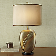oversized gold wave lamp