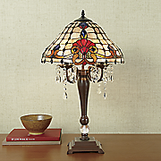 stained glass faux crystal lamp