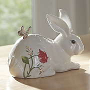 laying rabbit figurine