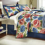 Bouquet Comforter Set, Window Treatments and Pillow