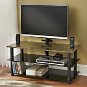 Faux Marble TV Stand with Mount