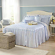 Sophia Skirted Bedspread Set, Decorative Pillows and Window Treatments