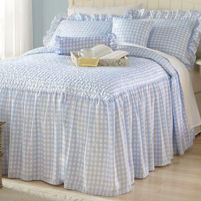 Sophia Skirted Bedspread Set, Decorative Pillows and Window Treatments