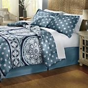 Yasmine Microfiber Comforter Set, Decorative Pillow and Window Treatments