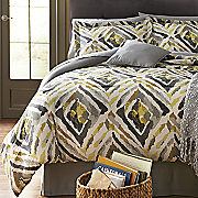 Kenya Comforter Set, Decorative Pillow and Window Treatments