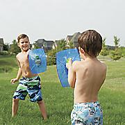 set of 2 aqua shields