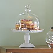 Glass Bird Cake Stand