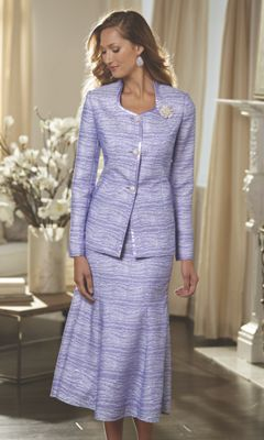 Jacquard Skirt Suit