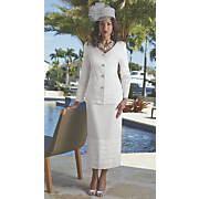 Snow Queen Tiered Skirt Suit