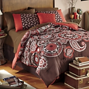 odeon comforter set  decorative pillow and window treatments