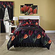 Water Tulips Comforter Set and Window Treatments